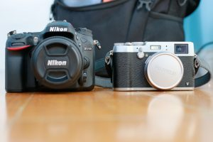 Here is the Fuji X100T compared with a Nikon D7200 + 50mm f/1.4 lens
