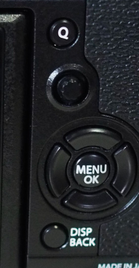 The New AF joystick located below the Q menu button
